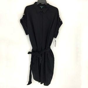 Lauren Ralph Lauren Dolman Cotton Shirt Dress